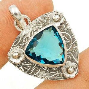 3CT Tanzanite Pendant, Silver 925